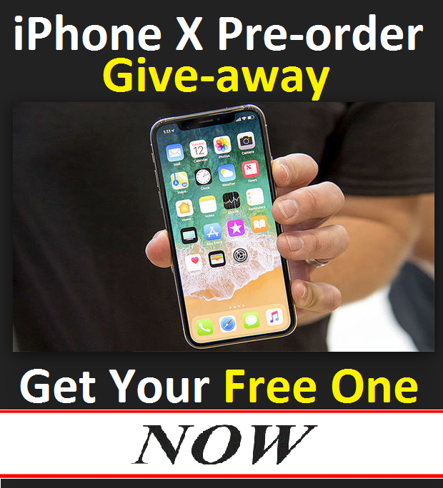 free iPhone x pre order Win free iphone x pre order now