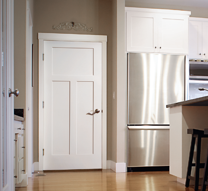Craftsman Is A Perfect Complement To Shaker Style Cabinetry Doors Interior Interior Exterior Doors White Interior Doors