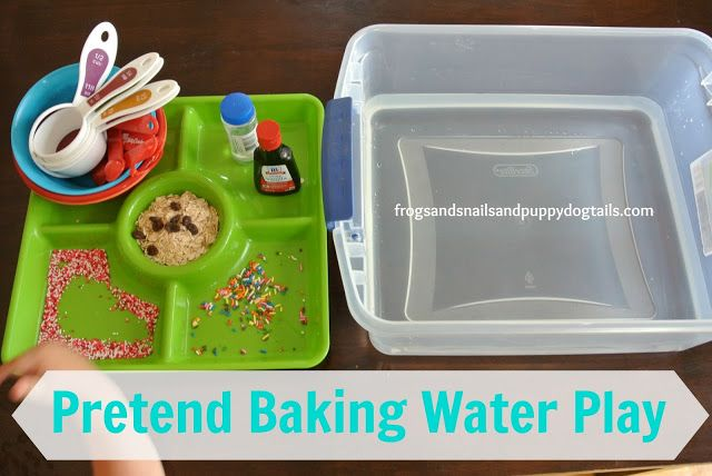 Food theme water table play.
