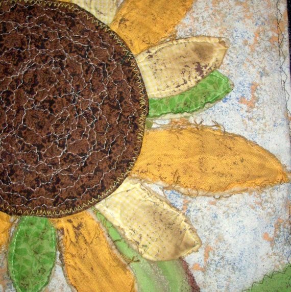 Sunflower Quilt Wall Hanging Summer Rustic by WhimseyWabbit, $24.00 ...