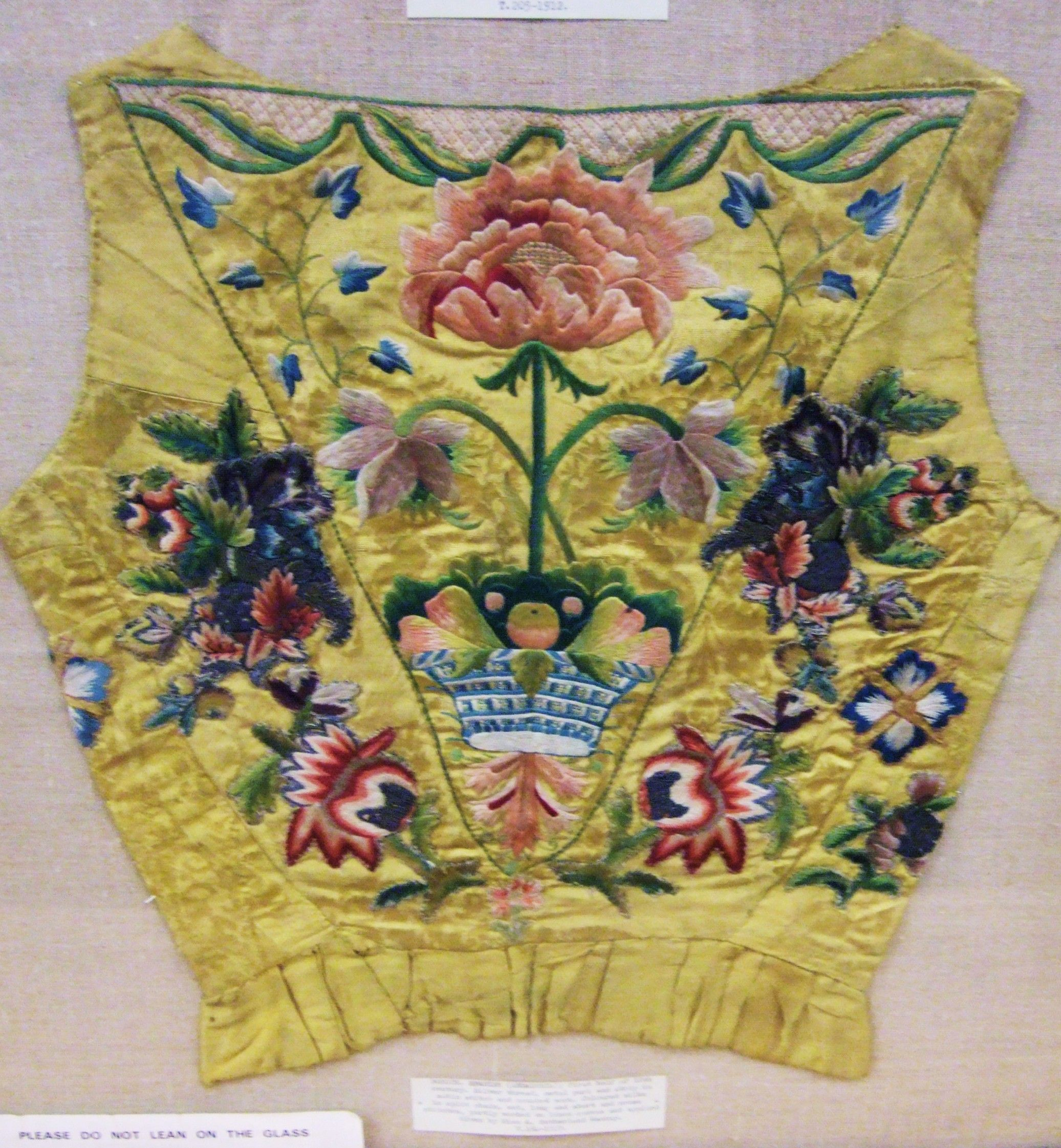 Embroidered waistcoat, V and A museum, London.