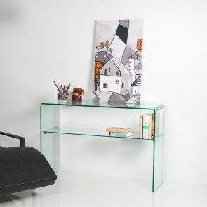 Consolle vetro curvo Shelf