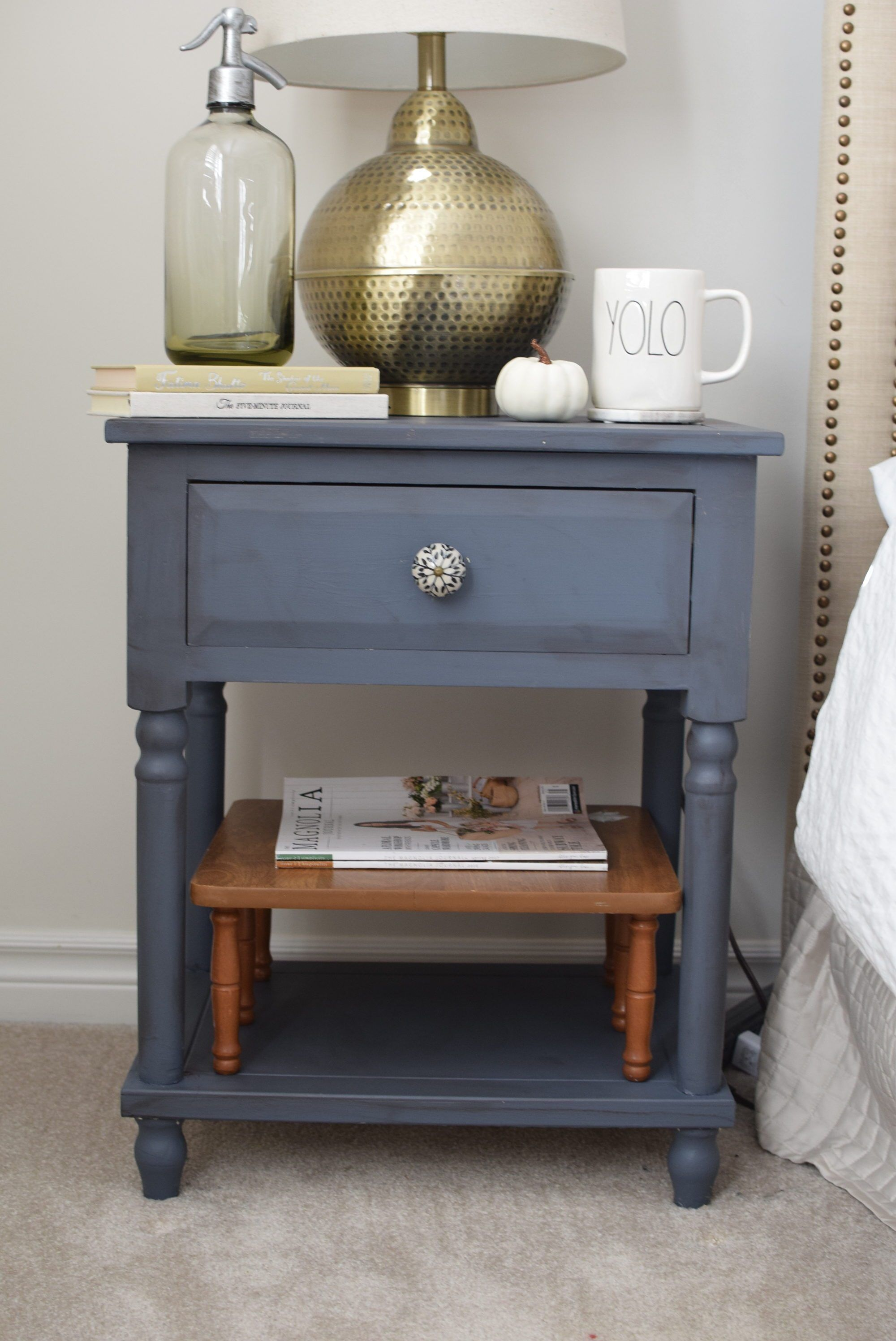 Bedside Table Makeover with Country Chic Paint Bedside