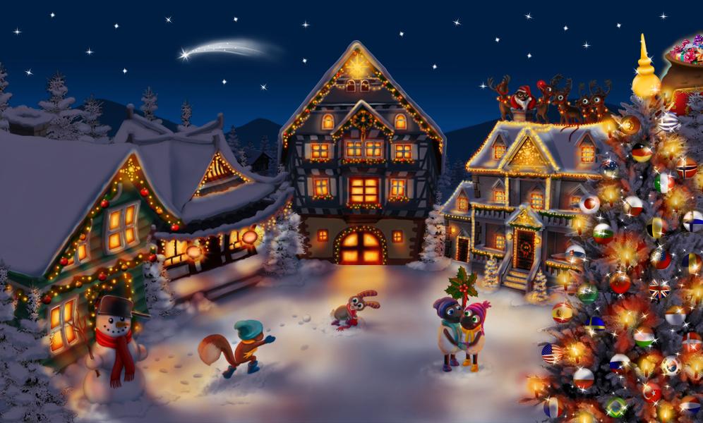 Fond D Ecran Anime Noel Fond D Ecran Hd Fond Ecran Noel Noel Retro Cartes Postales De Noel