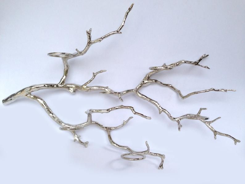 Tree Branch Candle Holder Tree Branch Decor Glass Votive Candle Holder Manzanita Tree Candle Holder Rustic Tree Branch Wall Candle Holder