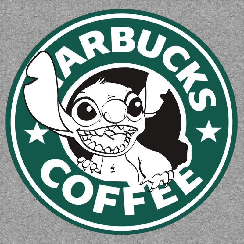 No more coffee for you Stitch Starbucks logo by