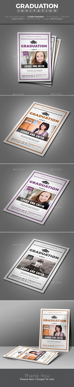 Graduation Invitation   Template, Font logo and Fonts