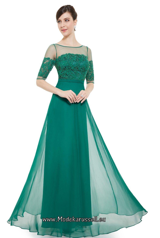 Halbarm Vintage Maxi Abendkleid 2017 Soraya Grün ...