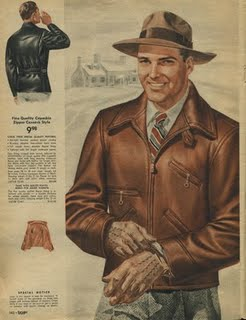 Men\u0027s Clothing Ad , 1940\u0027s Jacket