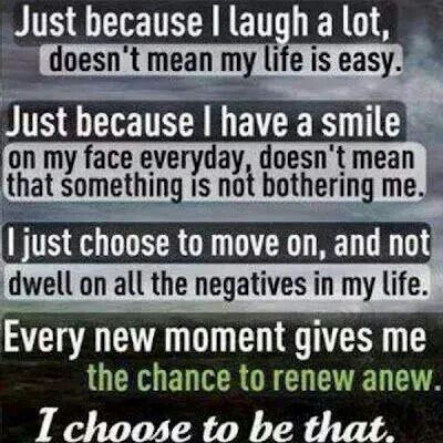 Don't dwell on negative