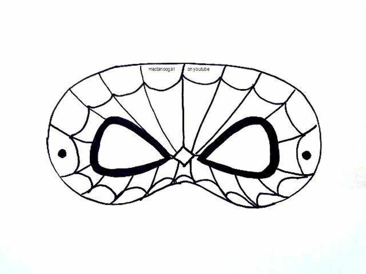 Free Printable Spiderman Mask Template Craftsy Spiderman Mask Mask Template Spiderman Craft