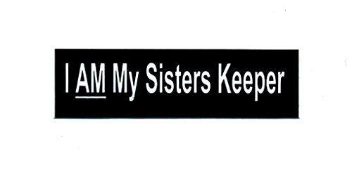 Motorcycle Helmet Sticker - I Am My Sisters Keeper BSI http://www.amazon.com/dp/B00L3WEBCW/ref=cm_sw_r_pi_dp_8.orwb14T2WZP #bikergear #bikerapparel #bikerstuff #helmetstickers #sisterskeeper