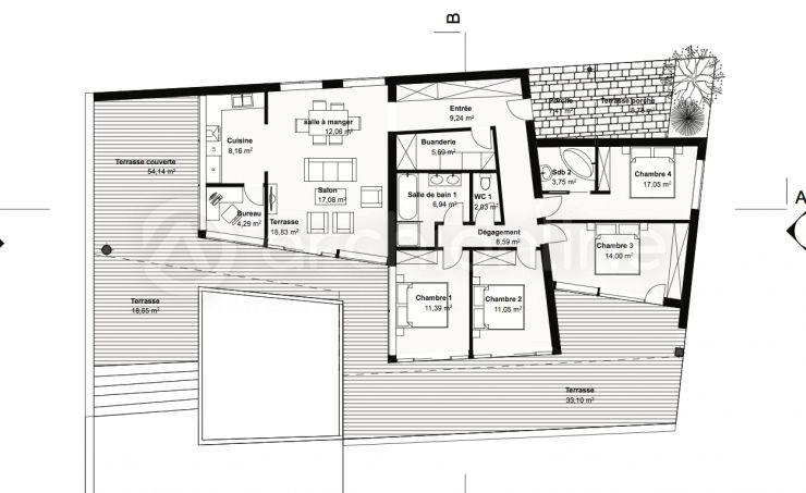 Maison Menthe   Plan De Maison Moderne Par Archionline