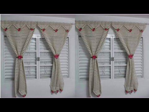 Cortina y percianas tejidas a crochet para ventanas   youtube ...