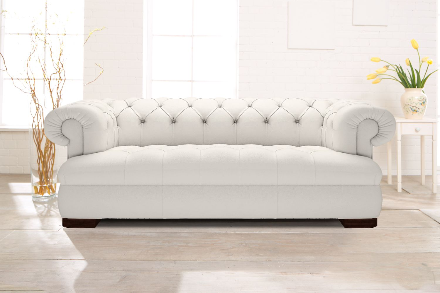 Chesterfield Ecksofa Weiss Chesterfield Sofa In Elegantem Weiß Modell Loxley Www