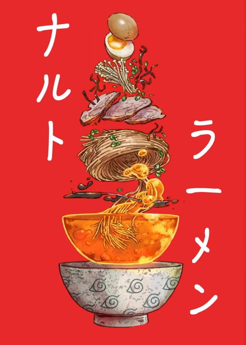 Naruto Ramen Anime Manga Poster Print Metal Posters Displate Poster Prints Metal Posters Picture Collage Wall