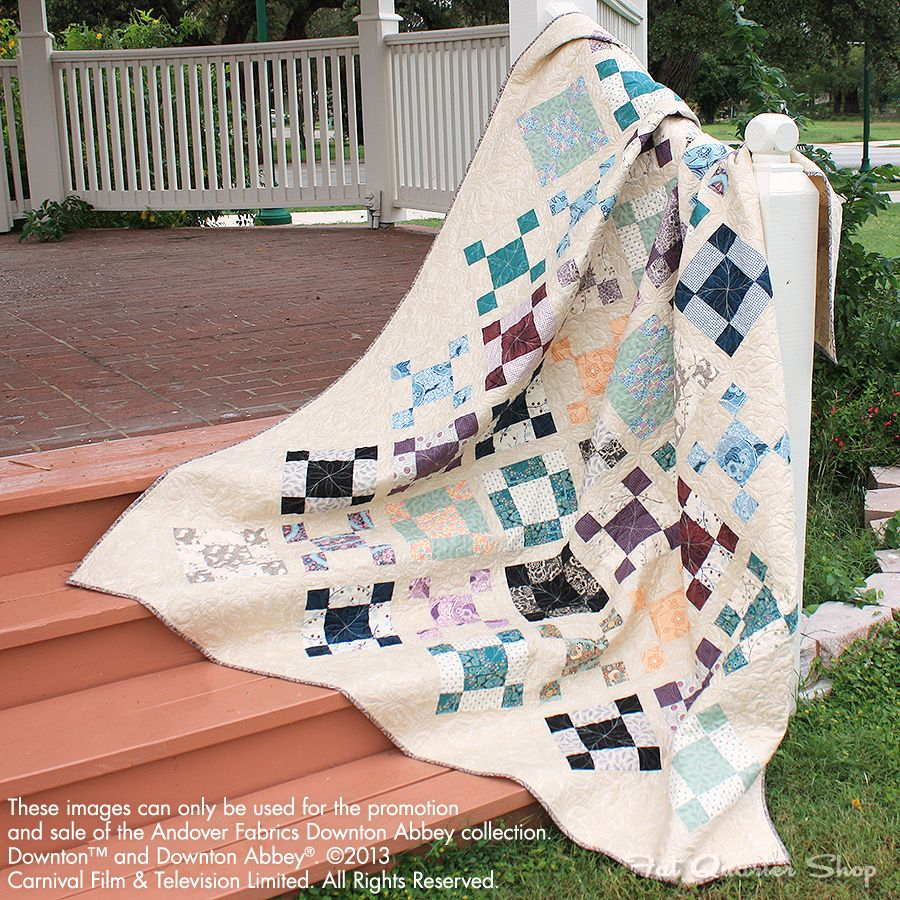 Ladies Of Downton Abbey Quilt Kit Now Available At Fat Quarter