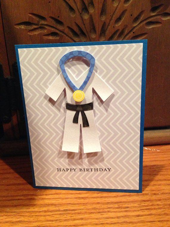 Handmade happy birthday card karate birthday card birthday party handmade happy birthday card karate birthday card bookmarktalkfo Gallery
