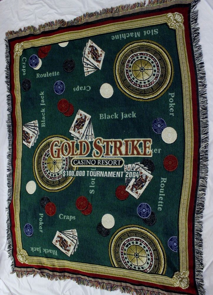 Casino Woven Tapestry Throw Blanket Wall Hanging Poker