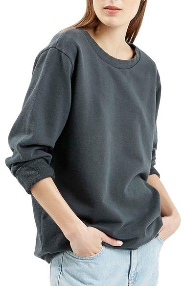586c15632558 Topshop Washed  90s Sweatshirt available at  Nordstrom