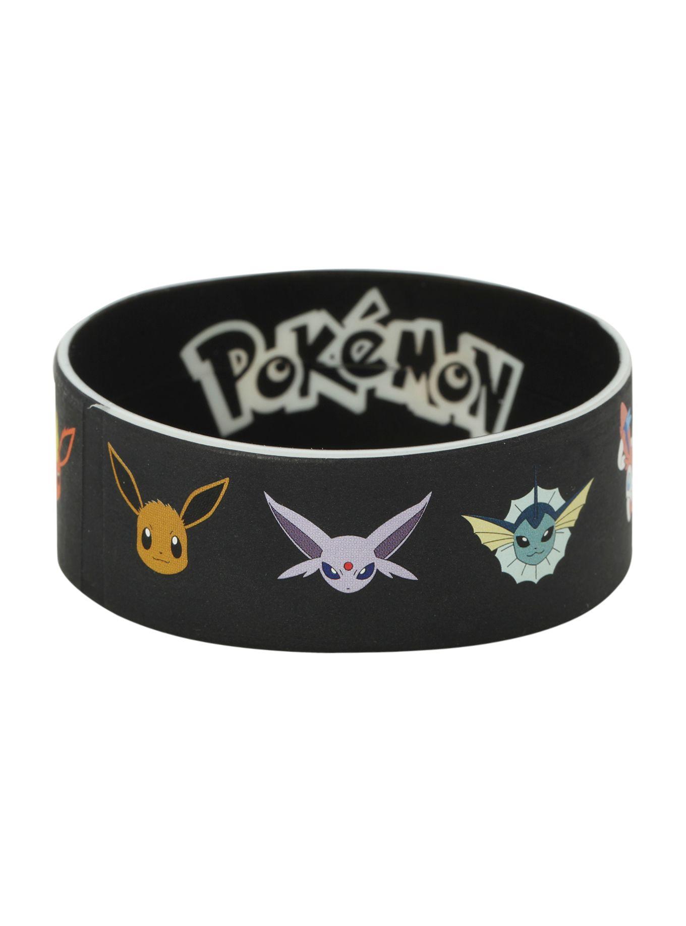 Pokemon Eevee Evolution Rubber Bracelet Hot Topic