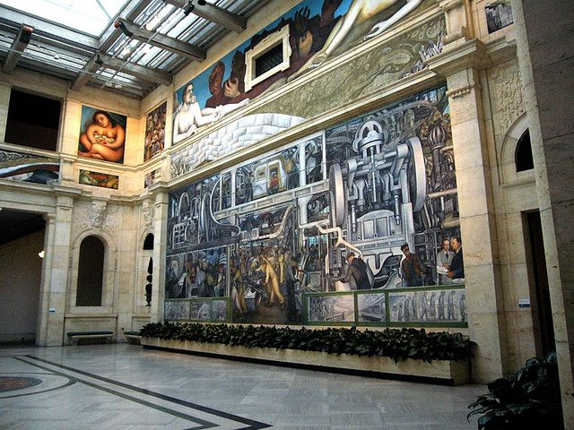 Detroit Institute of Art, go Rivera's Detroit Industry Murals ... on