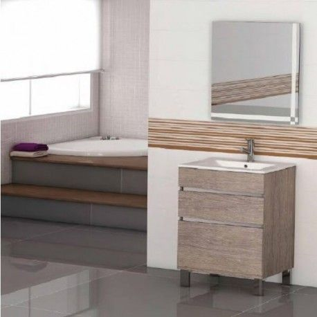 Mueble de ba o moon 60 muebles de ba o lavabo y muebles for Cambiar lavabo de pie por mueble