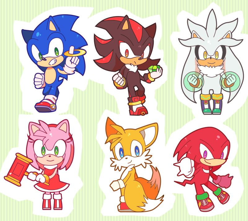 Sonic shadow silver amy tails and knuckles sonic - Sonic et shadow ...