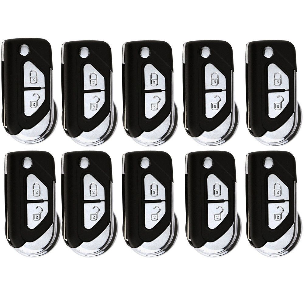10PCS Replacement 4 Buttons Key Shell for Honda 3+1