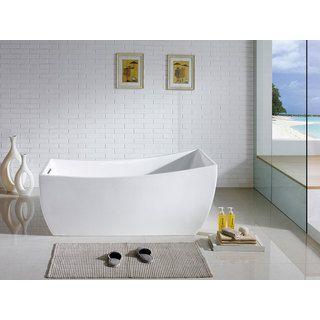 Luxor 66 Inch X 31 Inch White Rectangle Soaking Bathtub