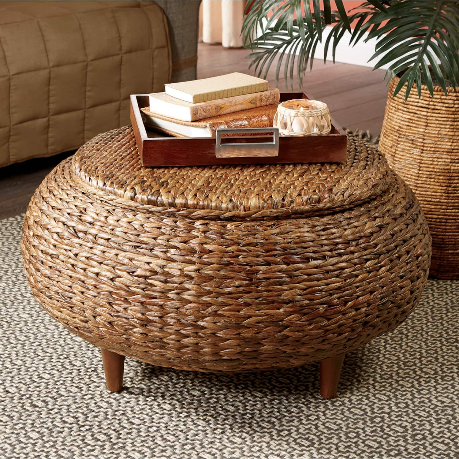 Abrielle seagrass storage coffee table country door
