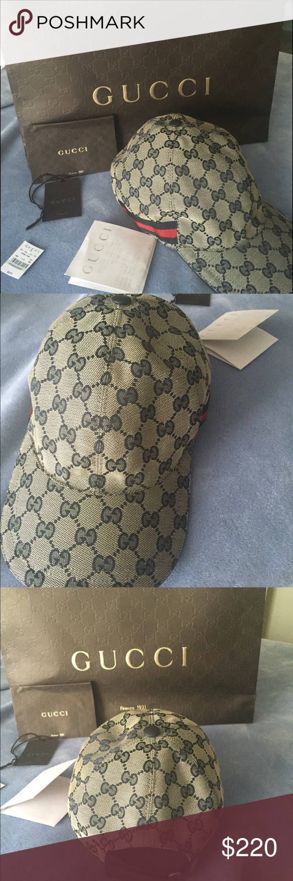 Authentic Gucci Baseball Hat Medium size Authentic Gucci Hat. Used once!  Comes with receipt 4d060c1c486