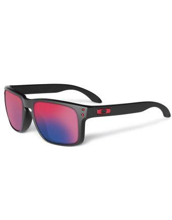 Holbrook Matte Black Positive Red Iridium Oakley   Lunettes de soleil    Snowleader 2a08c74cc2a0