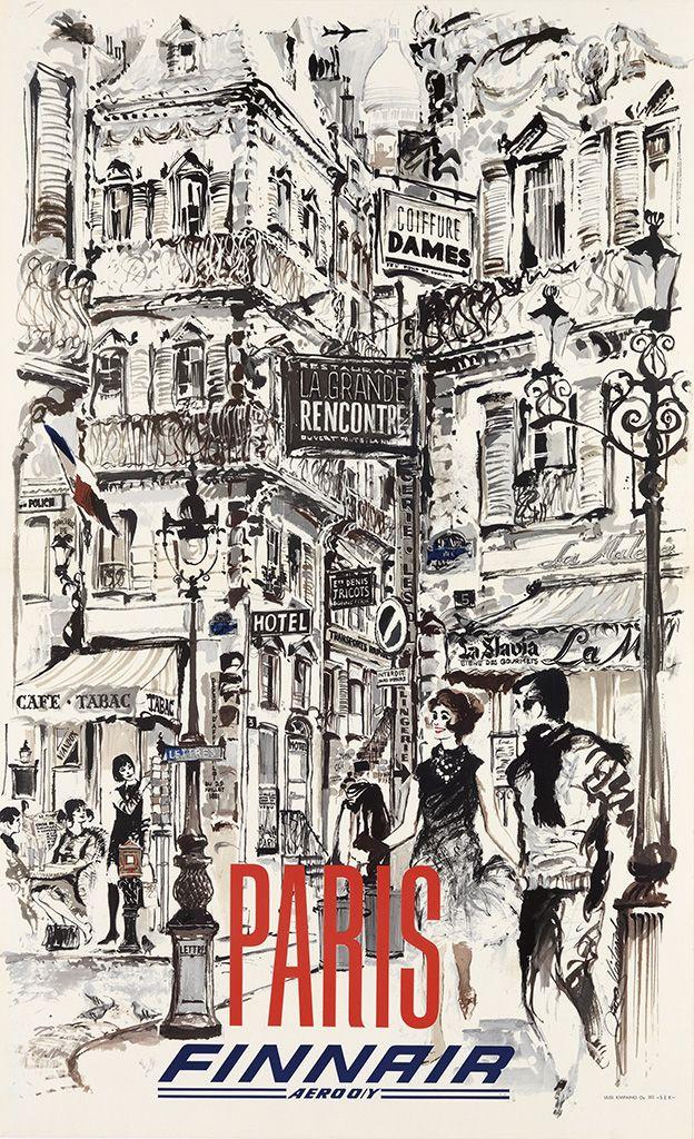 FINNAIR - PARIS c. 1960