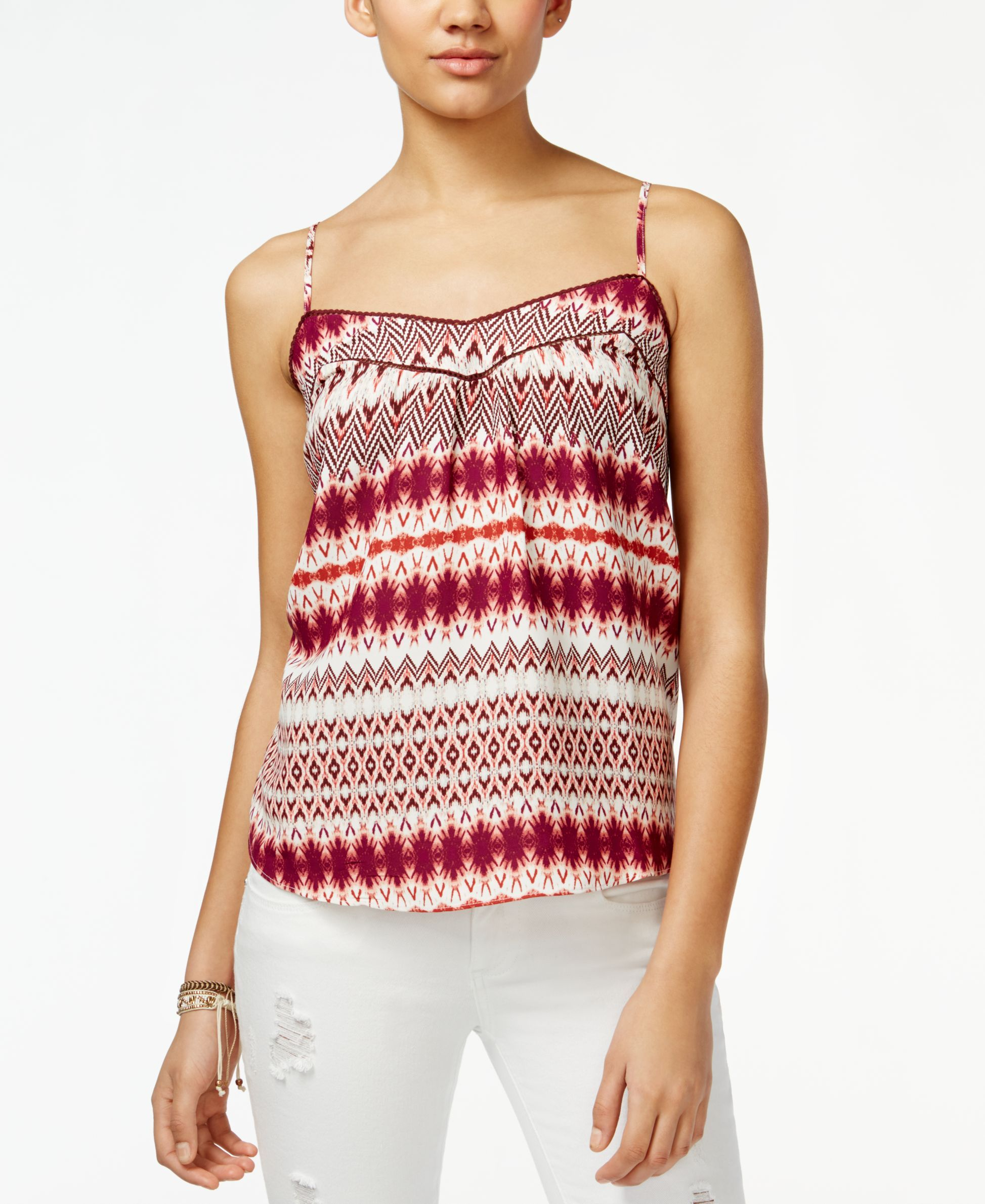 Jessica Simpson Shelby Ikat-Print Tank Top | Products | Pinterest