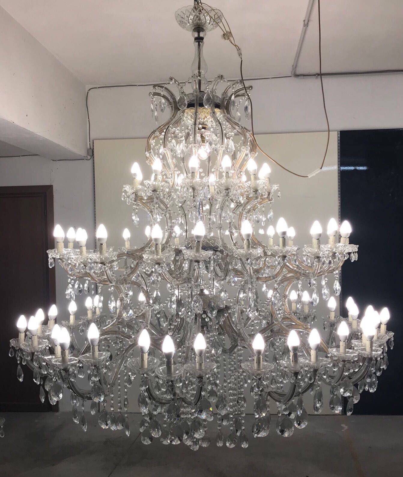 magnifying inch elegant image finish item belenus chandelier crystal pendant chrome chandeliers cfm light shown large glass wide lighting in