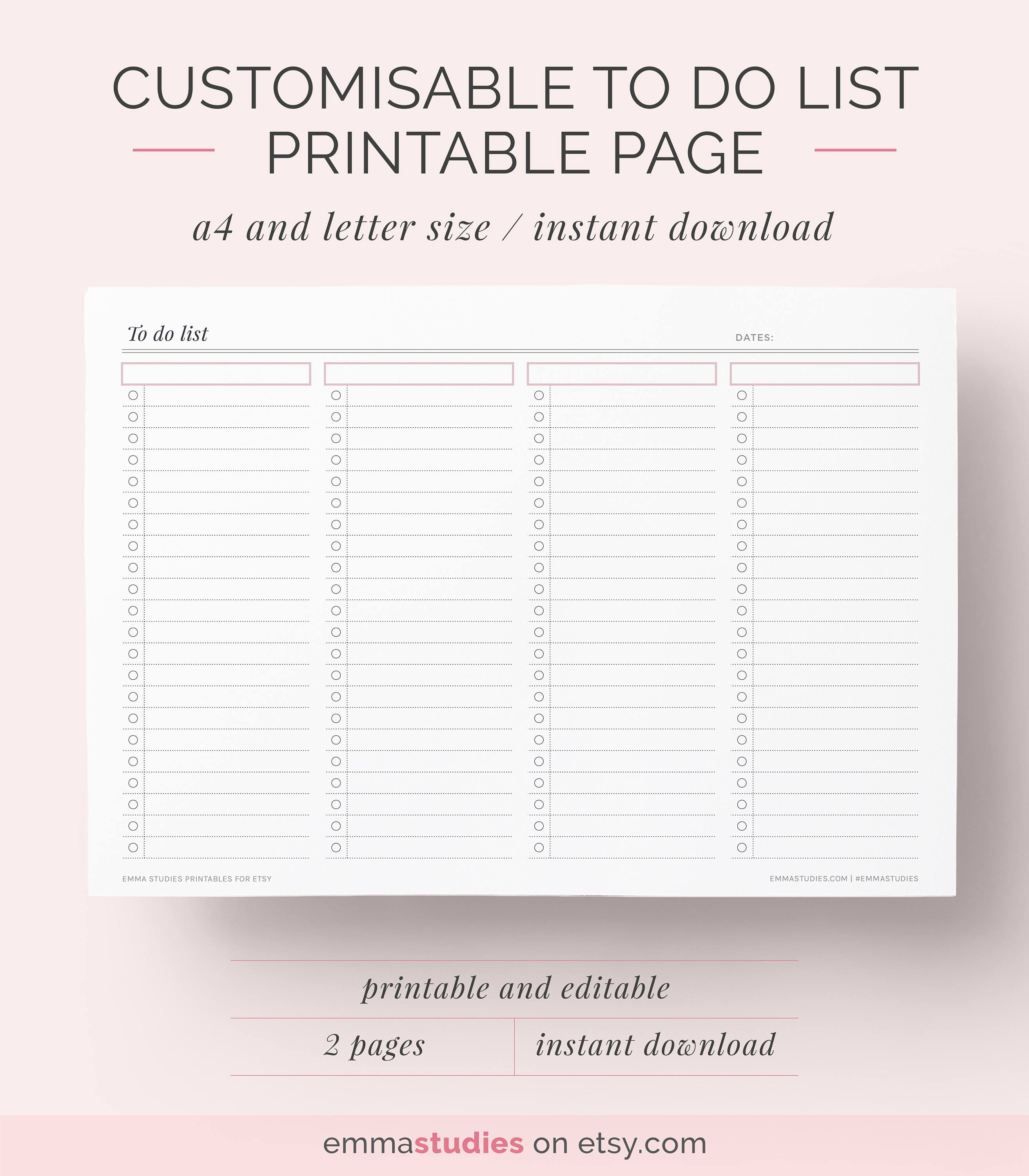 Diy To Do List Free Printablesi Recently Was Asked To Create Some Task Lists To Keep Up Your Productivity And H To Do Lists Printable To Do List Planner Pages