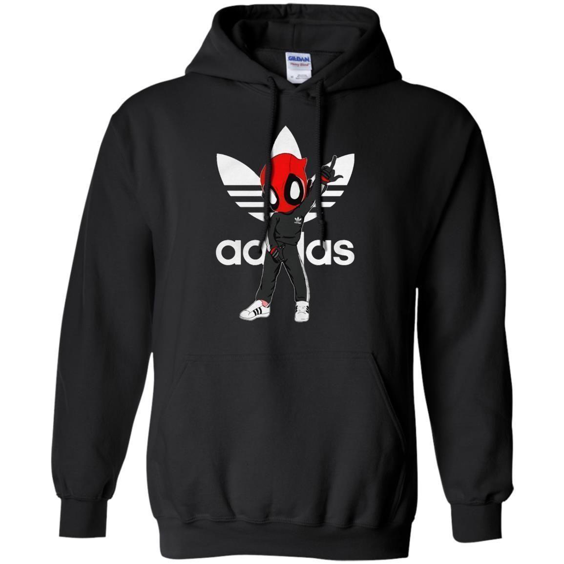 buena reputación último diseño precio al por mayor Deadpool Adidas Hoodie - Shipping Worldwide - NINONINE | Ropa ...