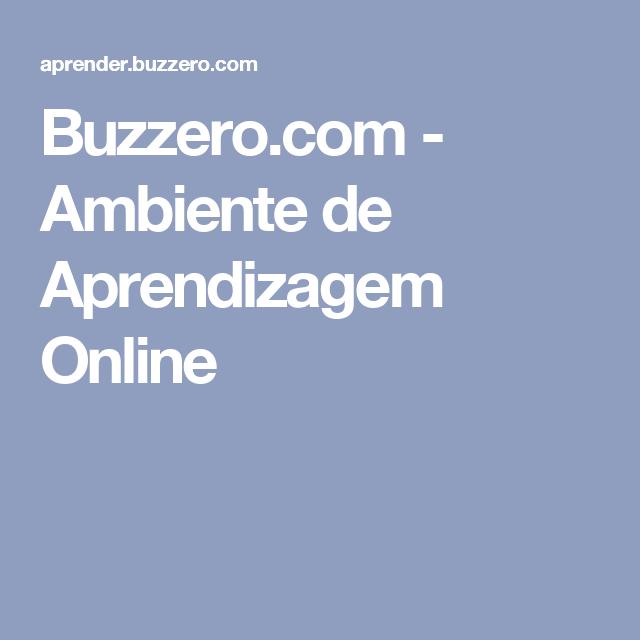Buzzero.com - Ambiente de Aprendizagem Online
