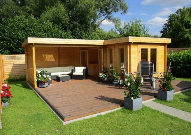 Flachdach Gartenhaus Modell Quinta44 ISO in 2020
