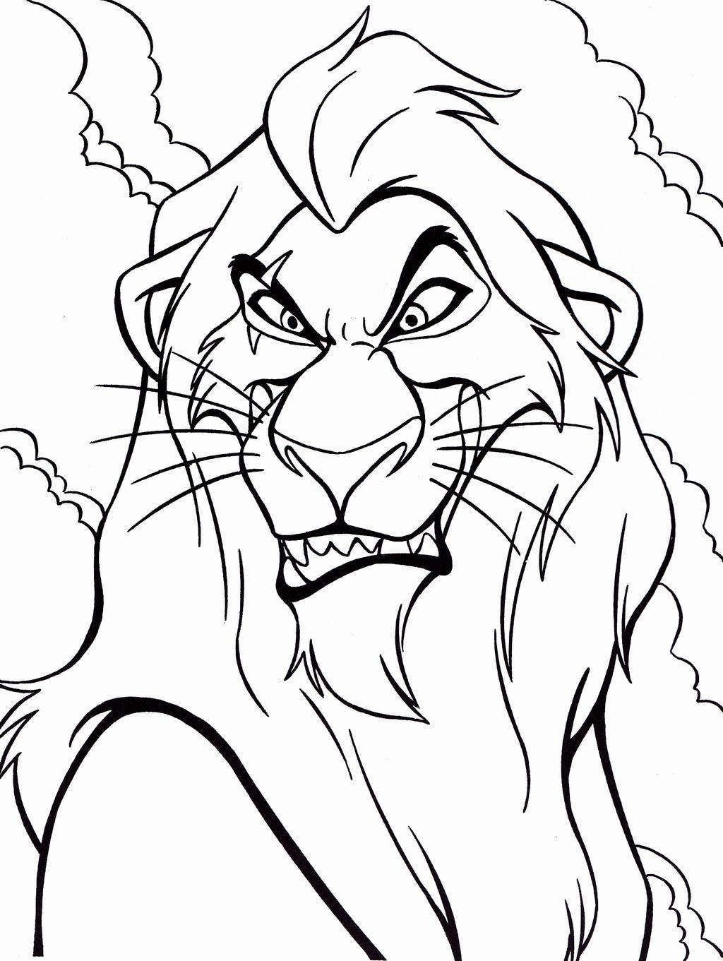 Lion King Coloring Page In