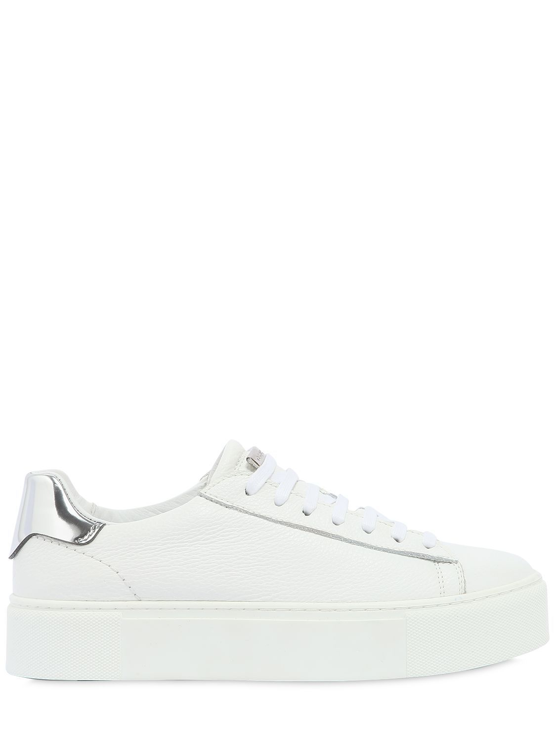 Dsquared2 40MM TENNIS LEATHER PLATFORM SNEAKERS