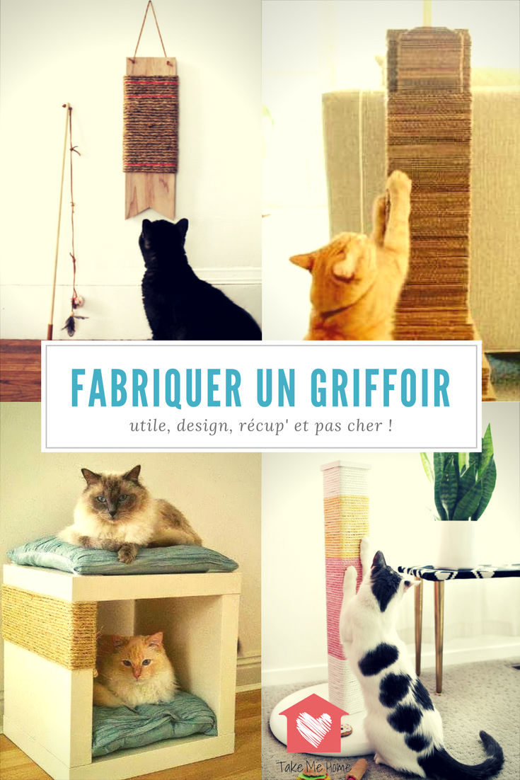 griffoir pour chat fait maison ventana blog. Black Bedroom Furniture Sets. Home Design Ideas