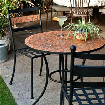 Terra Cotta Is Beautiful In Any Setting. Table And Chairs Fit On Any Patio,  Deck, Porch. Petandoutdoorlife.com