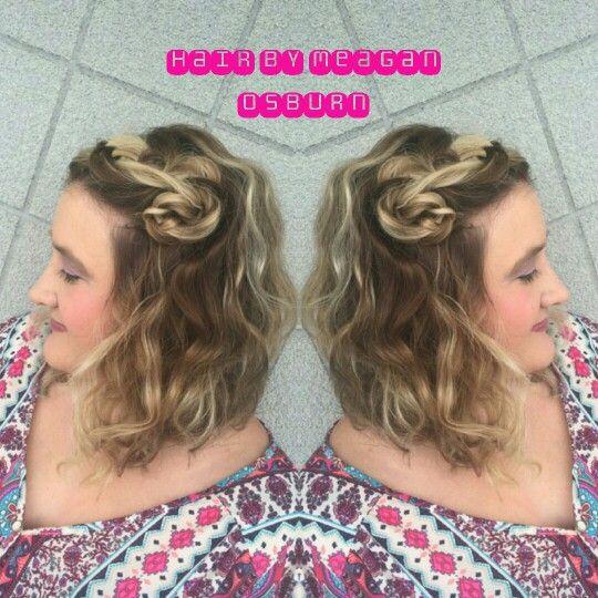 Boho braided bangs Follow me on  Instagram @hairstylist_meagan.osburn