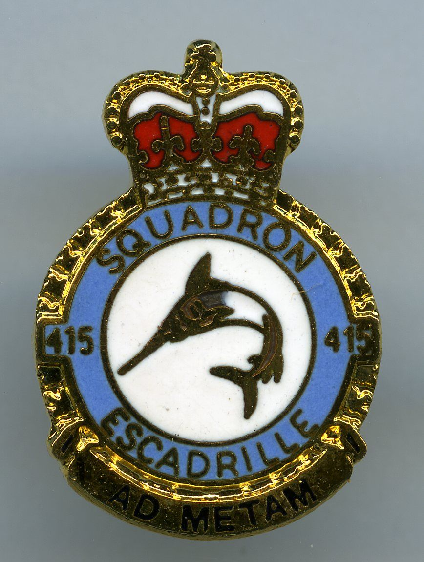 RCAF 415 Squadron Heraldry, Canadian military, Badge