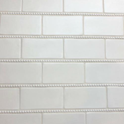 Handmade Subway Tile With Pearl Trim Handmade Subway Tile Handmade Tiles Handmade Home Decor