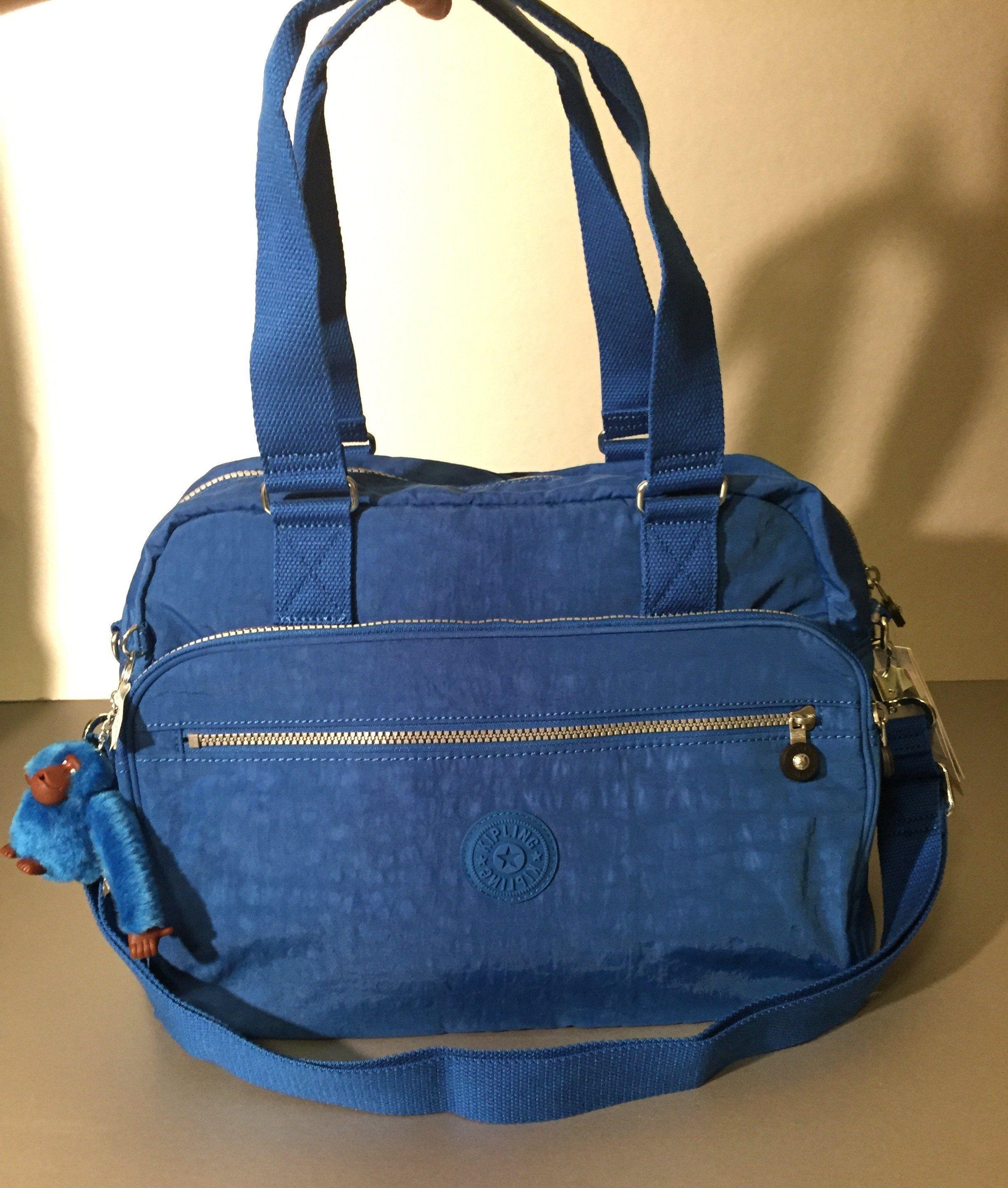 5b5b293a2 Kipling NewWeekend Duffle Travel Bag w/Trolley Sleeve French Blue ...