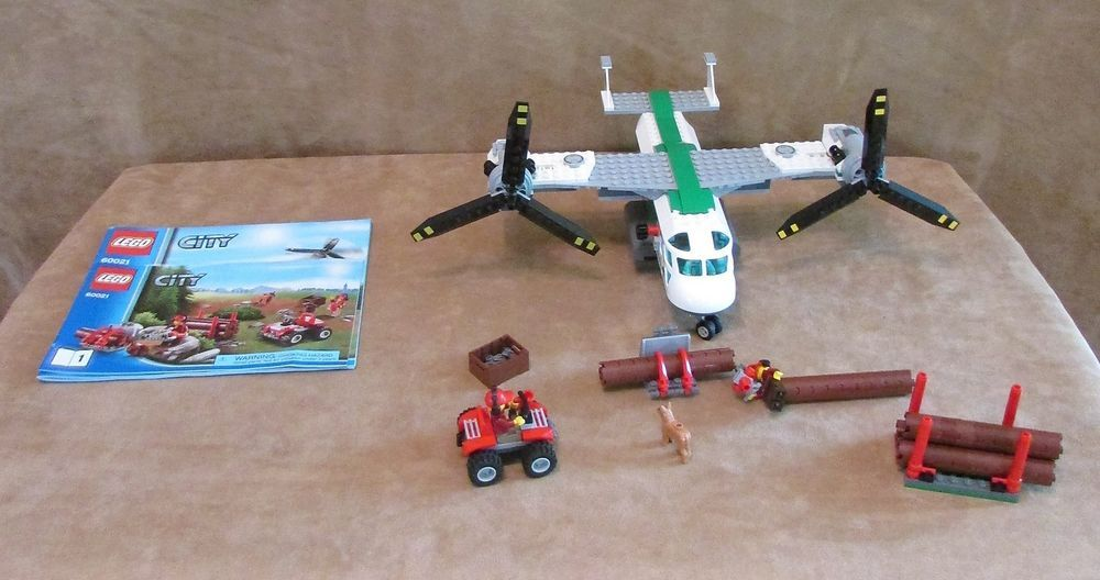60021 Lego City Cargo Heliplane Complete Instructions Airplane