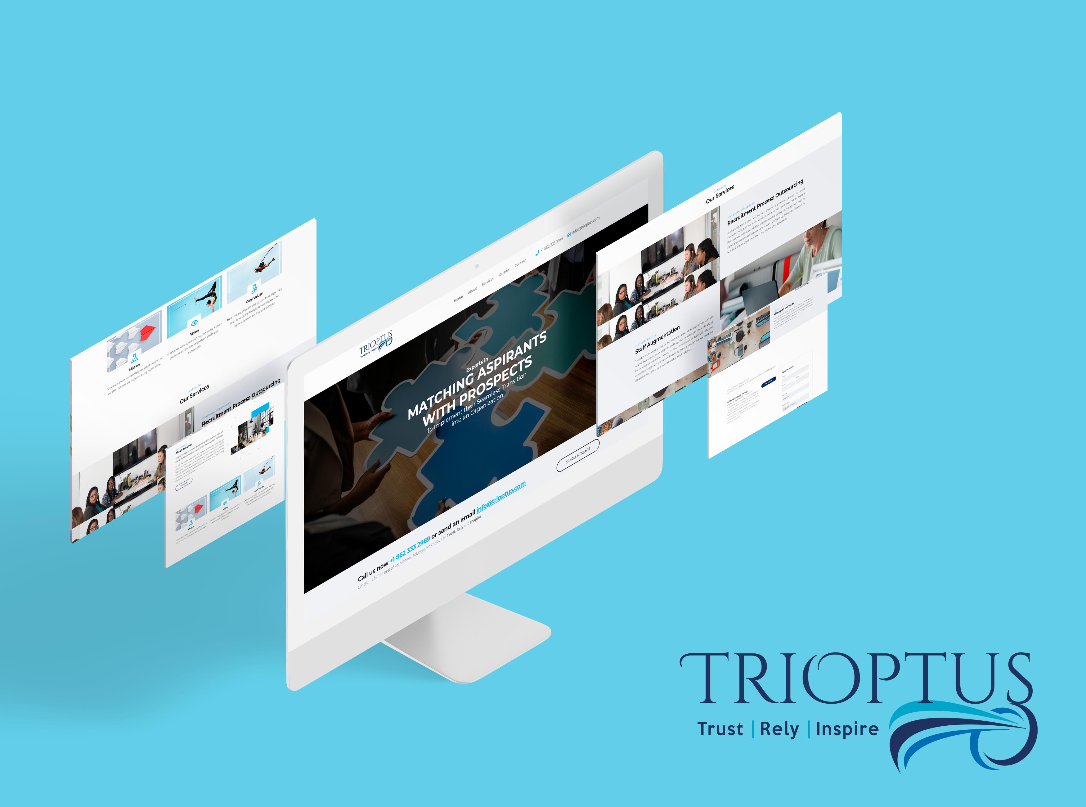 Our New Website Design For Trioptus Client Webdesign Design Website Blog Websitedesign D Professional Website Design Website Design Company Web Design